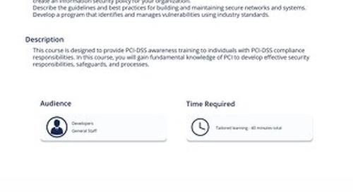 PCI 101 - PCI-DSS Compliance