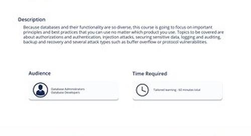DAT 101 - Defending Databases