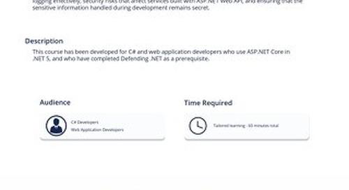 NET301 Defending ASP.NET Core in C#