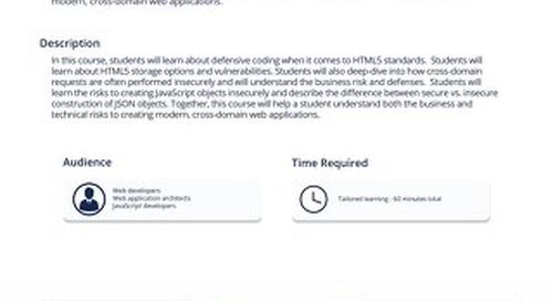 HTM 201 Defending HTML5