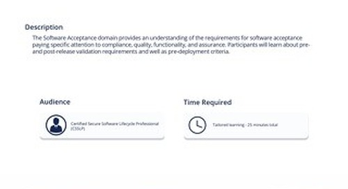 CSP 106 Software Acceptance