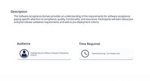 CSP 106 Software Acceptance