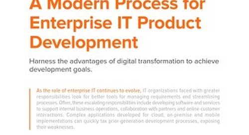 A Modern Process for Enterprise IT Product Development