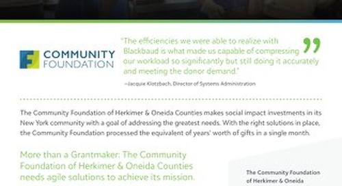 Customer Spotlight: The Community Foundation Herkimer & Oneida Counties