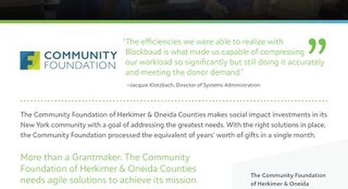 Customer Spotlight: The Community Foundation Herkimer & Oneida Counties