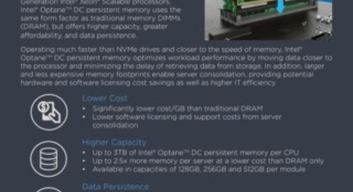 Why Intel Optane DC Persistent Memory on Lenovo ThinkSystem Servers