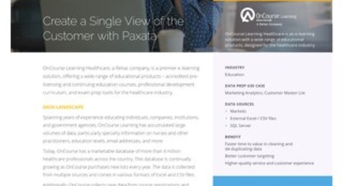 Paxata OnCourse Learning Case Study