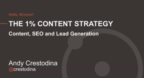 The 1% Content Strategy: Combining the Top SEO and Lead Generation Tactics to Statistically Beat 99% of B2B Content Programs