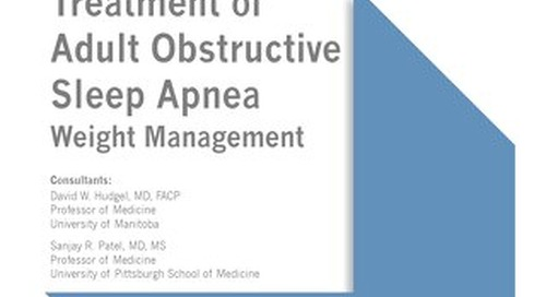 Treatment of Adult Obstructive Sleep Apnea - Weight Management
