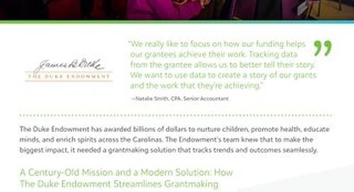 Customer Spotlight: Duke Endowment