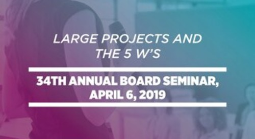 Large Projects & The 5 W's