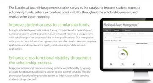 Data Sheet:  Blackbaud Award Management