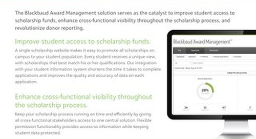 Data Sheet:  Blackbaud Award Management