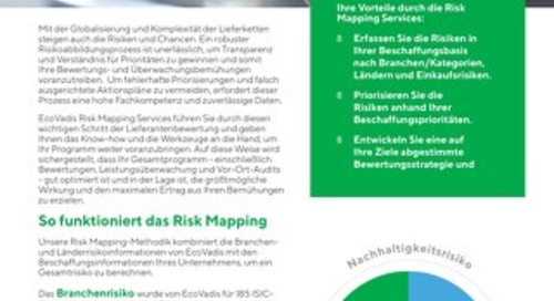 Risk Mapping Services Broschüre