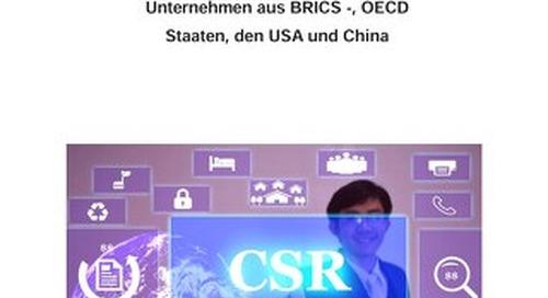 Vergleich der CSR-Leistung Deutscher Unternehmen mit Unternehmen aus BRICS-, OECD-Staaten u.a.