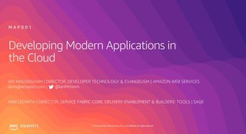 Developing Modern Applications in the Cloud