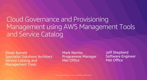 Cloud Governance and Provisioning Management using AWS Management Tools and Service Catalog