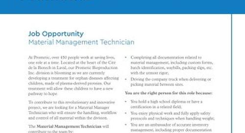 Material Management Technician