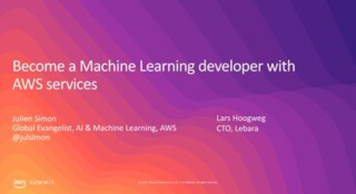 Become a Machine Learning Developer with AWS Services