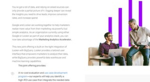 Google Cloud & Looker Marketing Analytics Accelator