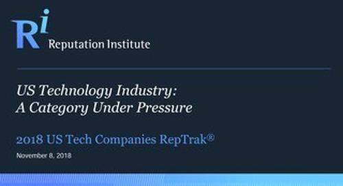 2018 U.S. Technology RepTrak Report