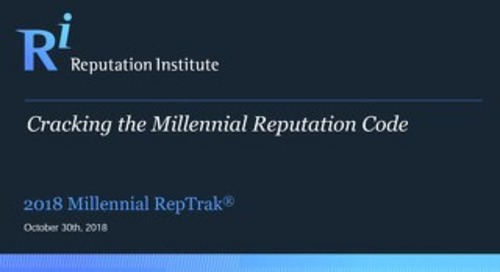2018 Global Millennial RepTrak