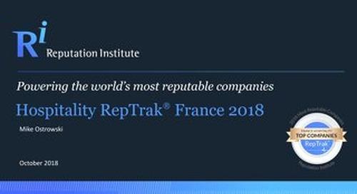 2018 France Hospitality RepTrak