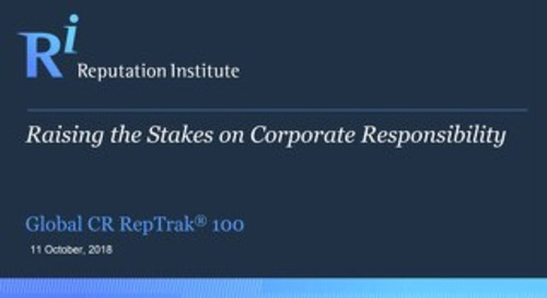 2018 Global CSR 100 RepTrak Data