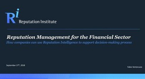 2018 Reputation Management for the Financial Sector in Italy