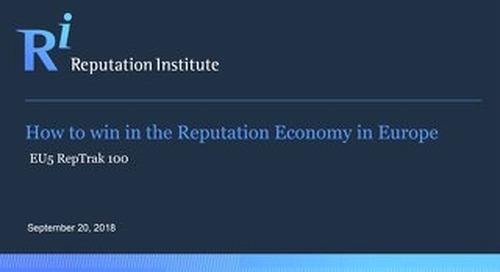 EU5 RepTrak Report 2018
