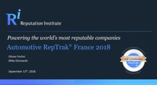 Automotive RepTrak France 2018