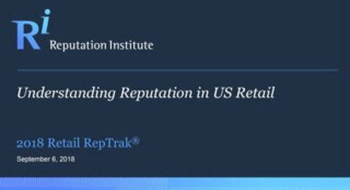 2018 US Retail RepTrak Report