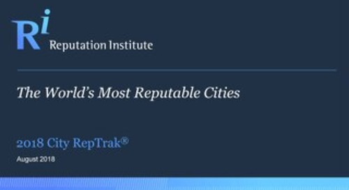 2018 City RepTrak Report