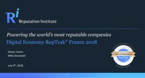 2018 France Digital Economy RepTrak