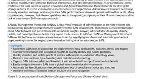 SANnav Management Portal and Global View