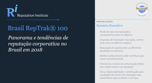2018 Brazil RepTrak - Executive Summary