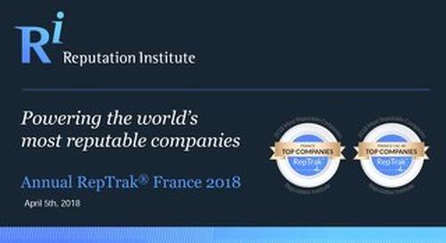 2018 France RepTrak