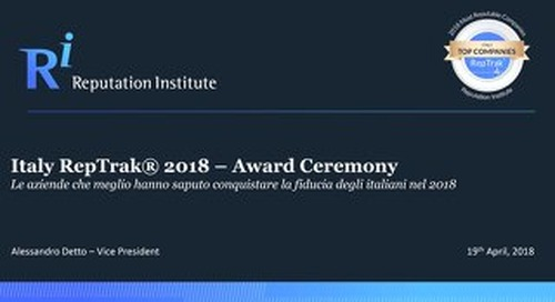 2018 Italy RepTrak Awards