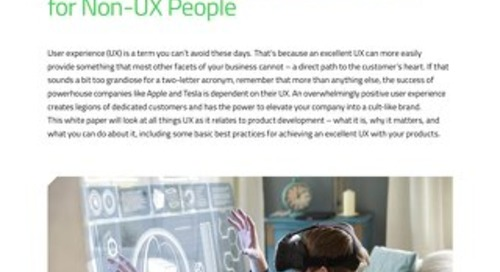 White Paper: The Insider's Guide to Excellent UX for the Non-UX People