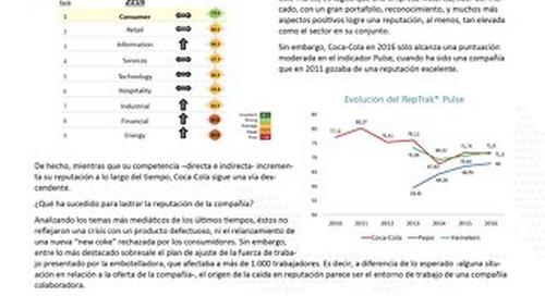 Reputation Insights: Coke in Spain (Spanish)