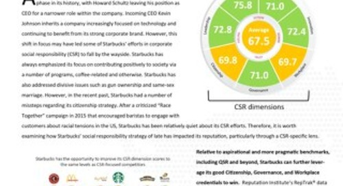 Starbucks: Improving Reputation Through Responsibility - Brief
