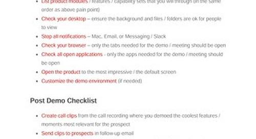 The Product Demo Checklist