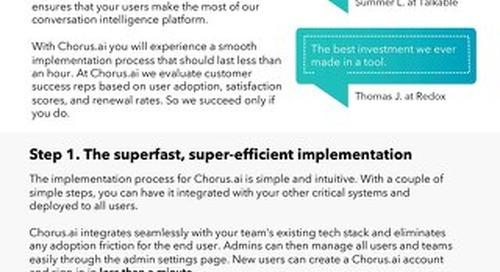 Implementation & Customer Success Program