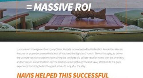 Classic Resorts + A Complete Hospitality CRM = Massive ROI