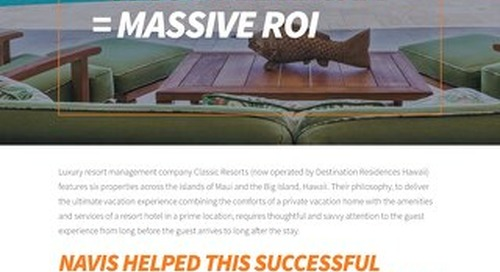 Classic Resorts + A Complete Hospitality CRM = Massive ROI