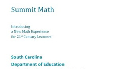 SC DOE Instructional Materials Fuel Education Summit Math Submission