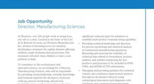 Director Manufacturing Sciences