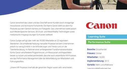 Fallstudie Canon - 25% mehr interne Einstellungen