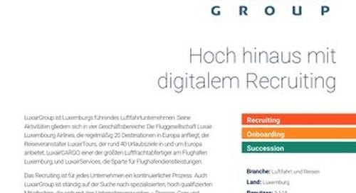 Fallstudie Luxair - Hoch hinaus mit digitalem Recruiting