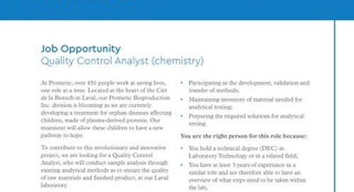 Quality Control Analyst (chemistry)